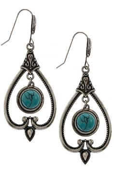 HANDMADE FAUX STONE ETCHED CUTOUT EARRINGS