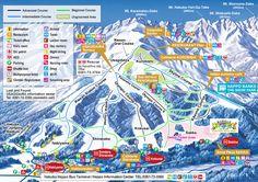 Trail Map Hakuba Happo One Nagano Pref. Japan