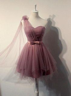 Eine Schulter Ballkleid, Günstige Ballkleider, Partykleid für Mädchen, Tüll  Ballkleid, Heimkehr Kleid, BD369 d71a4bda33