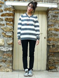 United Colors Of Benetton Woolen Stripped Sweater, Adeline Rapon Toad The Mushroom, Ray Ban Without Them Or My Lenses,I'm Blind, Cheap Monday Skinny Pants, Spring Court I Changed The Laces, Silver Sneakers