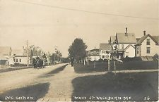 Washburn ME~Barrel Wagon on Main St~Sheep Graze in Yard~Storm Cellar~RPPC c1910