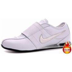 www.asneakers4u.com Mens Nike Shox R3 Velcro White Grey Black