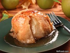 Easy, easy apple dumplings - and the recipe calls for everything from scratch (not canned apple filling) except pie crust, which you can actually make yoursel!