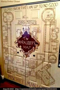 Marauders map closet? Yes please