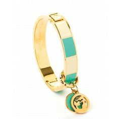 Spartina Swing Charm Hinged Bangle Teal #wrapsodiesgifts.com
