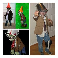 Penelope knows what she wants to be this year -  Plants vs. zombies Halloween Costumes
