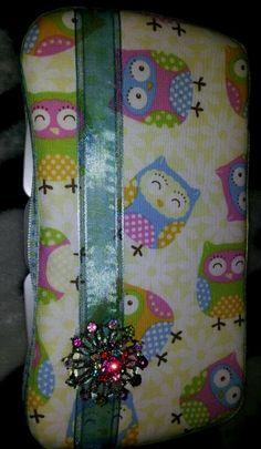 Owl travel wipey case