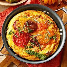 Heirloom Tomato, Ham and Fontina Frittata Recipe