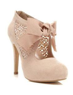 Miss Selfridge Sally Nude Town Shoe #shoes