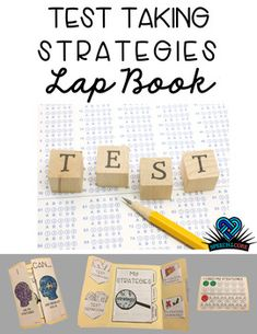 This Lap Book is a great way to engage students as they prep for High Stakes Testing! Color and Blackline versions are included. Included in this Lap Book product are:-12 Test vocabulary words and definitions-3 Tab Notebook including helpful reminders, strategies and extended writing response, as well as a Growth Mindset for test taking-Strategy Strength and Weakness pockets for students to self assess skills-Emoji page to track when strategies have or have not been uses.