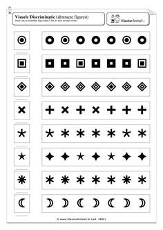 Discriminación visual. Contar el orden en el q salen las figuras indicadas.