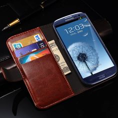 Vintage Wallet Leather Case For Samsung Galaxy Grand DUOS i9082 Neo Plus i9060 With Stand Card Holder Flip Style