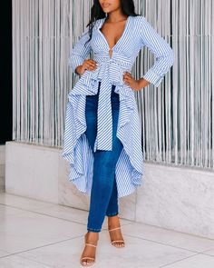 Casual Summer Outfits, Stylish Outfits, Fashion Outfits, African Attire, African Fashion Dresses, Maxi Shirt Dress, Abaya Fashion, Clothing Patterns, Women's Clothing