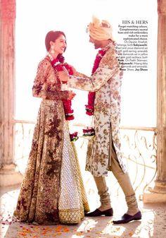 Sabyasachi Mukherjee Gold Embellished #Anarkali #Lehenga. Love how it's different