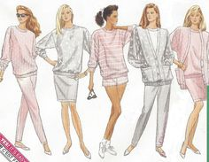 1980s Womens Cardigan Jacket Top Shorts Pants & by CloesCloset
