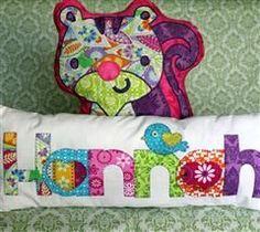 Project Center - Create A Critter 2 Contest Squirrel \u0026 Name Pillows This looks epic. Says my name maybe it\u0027s a me thing. & Applique Name Pillows | Diary of Appliques and Diaries pillowsntoast.com