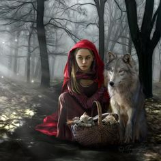 Enchantment Of The Wolf : Tammara in Fantasy (What a fun picture I could take with Murdock!)