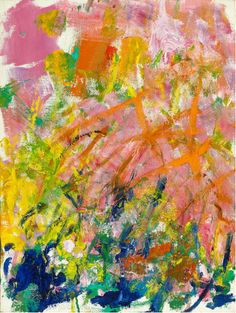 I think the bottom part of the painting is much more interesting than the top part; that's just my professional, schooled opinion of this Joan Mitchell painting.
