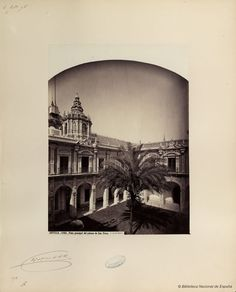Courtyard of San Telmo Palace. Photo by J. Laurent. National Library of Spain.