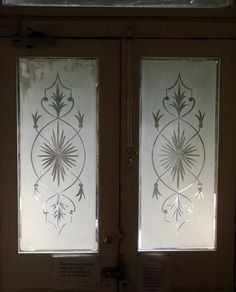 Stained and Leaded Glass windows for your home from Bell Stained Glass Etched Glass Windows, Leaded Glass Windows, Beveled Glass, Glass Door, Stained Glass Church, Stained Glass Crafts, Wrought Iron Doors, Shabby Vintage, Glass Etching