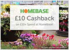 Free £10 Spend in Homebase after Cashback