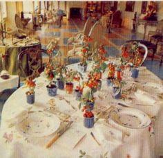 Pauline de Rothschild tablescape.