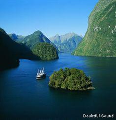 Doubtful Sound, a fjord in Fiordland, far south west of South Island, New Zealand. Near Milford Sound.
