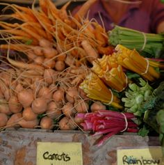Carrots and rainbow chard - Wodonga Farmers' Market
