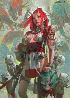 арт девушка,красивые картинки,Fantasy,Fantasy art,art,арт,Zeen Chin,artist