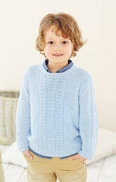 Pojan vaaleansininen pusero/Light blue sweater for kids, Kotiliesi. Light Blue Sweater, Blue Sweaters, Baby Knitting, Turtle Neck, Kids, Fashion, Young Children, Moda, Children