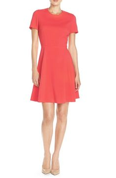 Free shipping and returns on Eliza J Crepe Fit & Flare Dress (Regular & Petite) at Nordstrom.com. Bright color and a figure-skimming silhouette make this crisp crepe dress especially attractive.