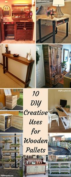 10 #DIY Creative Uses for Wooden Pallets - 101 Pallet Ideas