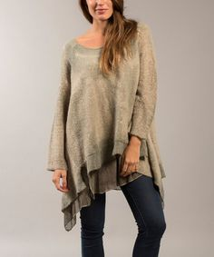 Another great find on #zulily! Green Layer Mohair-Blend Sidetail Pullover #zulilyfinds