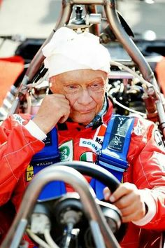 "Niki 2014... What is he thinking about? ""The last time I was in this car, it tried to kill me."""