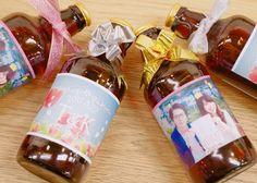 プチギフトにぴったりの、オリジナルラベルの可愛いビールを発見! Wine, Drinks, Bottle, Gifts, Wedding, Food, Gift Ideas, Drinking, Valentines Day Weddings