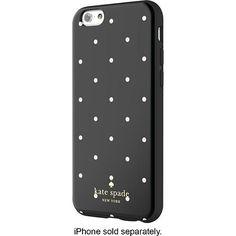 kate spade new york - Larabee Dot Hybrid Hard Shell Case for Apple® iPhone® 6 - Black/Cream - Larger Front