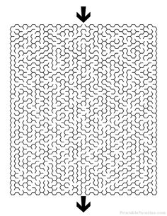 Print Free Hexagon Maze with Hard Difficulty. Difficult Hexagon Maze with Solution. Maze Puzzles, Word Puzzles, Maze Worksheet, Worksheets, Printable Mazes, Printables, Hard Mazes, Mazes For Kids, Maze Game