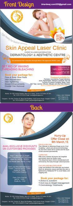 Front & back leaflet design