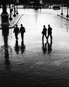 Photo André Kertész, place de la Concorde - Paris, 1928.