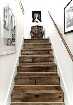 Barn wood staircase