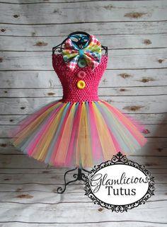 Clown Tutu dress Costume Clown costume by GlamliciousTutus Girl Clown Costume, Clown Halloween Costumes, Costumes Japan, Crochet Tutu, Le Clown, Trick Or Treat Bags, Dress Rings, Turquoise, Girl Birthday