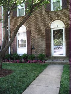 Merveilleux Before And After:townhouse Landscaping, Here Are Some Before And After  Photos Of Our Front Lawn Area Of Our Small Townhouse. The Before Pho.