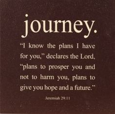 My Grandma's favorite verse. Whenever I read it, it reminds me that my future is already planned out, and all I have to do is follow what he says. <3