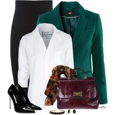 """""""Classic White Blouse - Office Style"""" by kginger on Polyvore"""