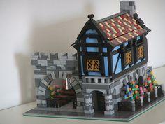 Modular medieval corner house    ... ビレッジ作品 「Modular medieval house inspired