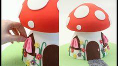 SMURF Mushroom House Cake - How To By CAKE STYLE decorating - YouTube