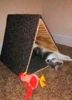 Дом для кошки своими руками. Мастер-класс с фото. - Для животных