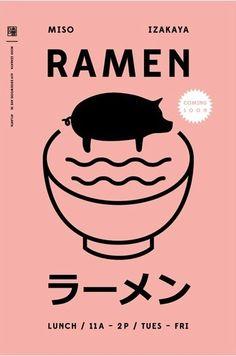 Cómo nos gustan tanto los iconos este cartel nos encanta. La combinación de color y la tipografía con caracteres japoneses son geniales.