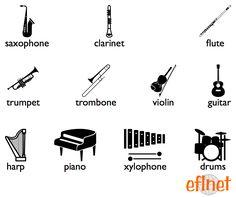 Musical Instruments - Worksheets | EFLnet