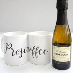 Prosecoffee Mug And Mini Prosecco Bottle